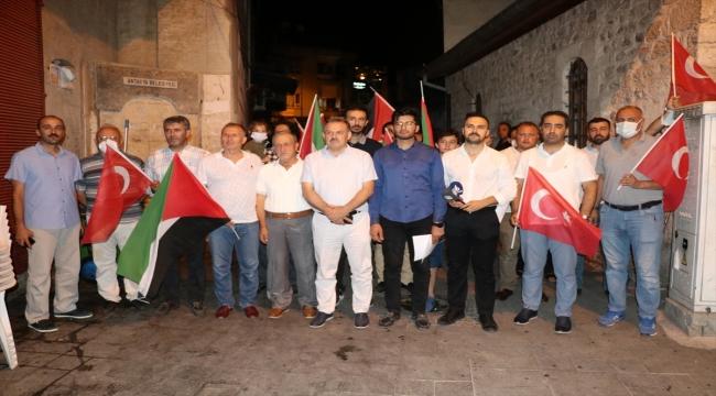 Osmaniye ve Hatay'da fanatik Yahudilerin Mescid'i Aksa'ya saldırıları protesto edildi