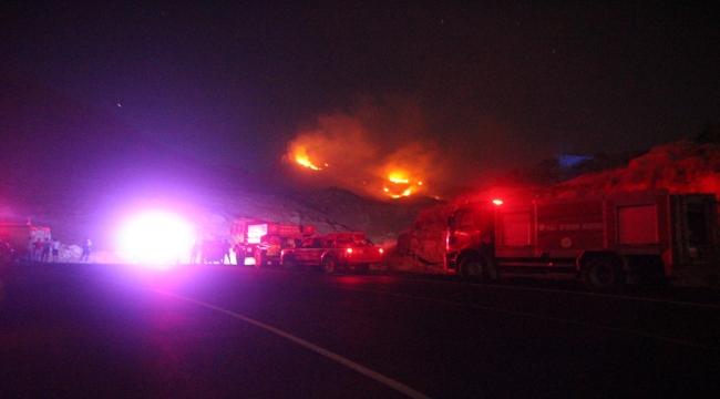 Bodrum'da otluk ve çalılık alanda çıkan yangın söndürüldü