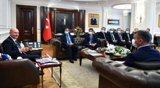 İçişleri Bakanı Soylu, göreve yeni atanan mülkiye müfettişlerini kabul etti