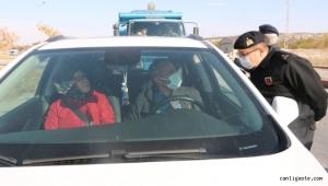 Kayseri'de jandarmadan trafik denetimi